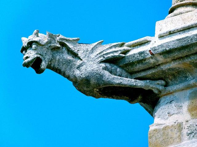 Gárgola en la catedral de Burgos