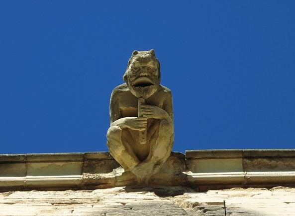 Gárgola en la Seu Vella de Lleida