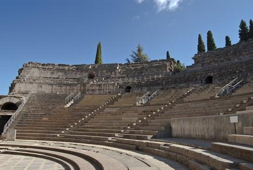 Graderío del Teatro romano de Mérida