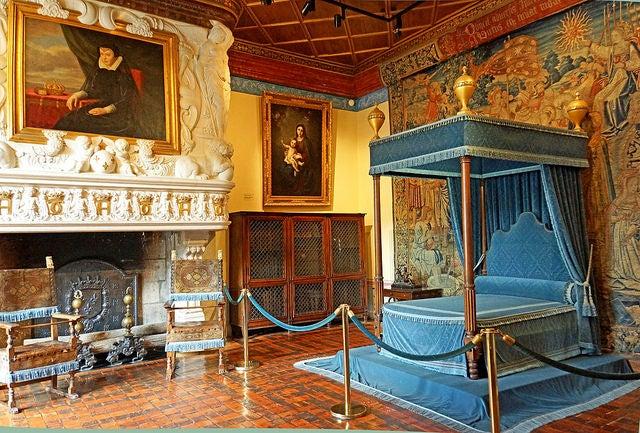 Habitación de Diana de Poitiers en el castillo de Chenonceau