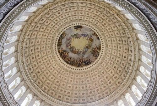 Interio de la cúpula del Capitolio de Washington