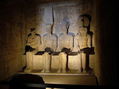 Interior del templo principal de Abu Simbell
