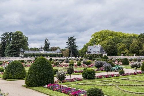 Jardín en el castillo de Chenonceau