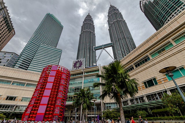 Kuala Lumpur city Center con las Torres Petronas