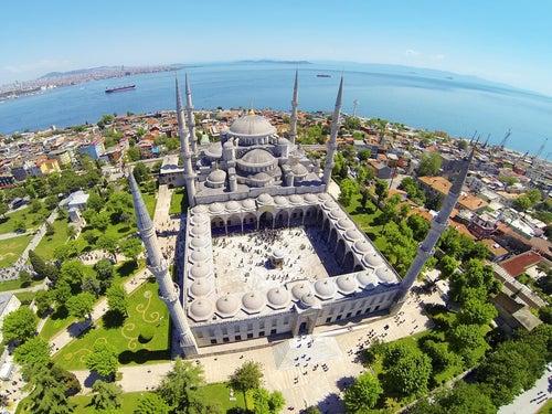 Vista aérea de la mezquita Azul