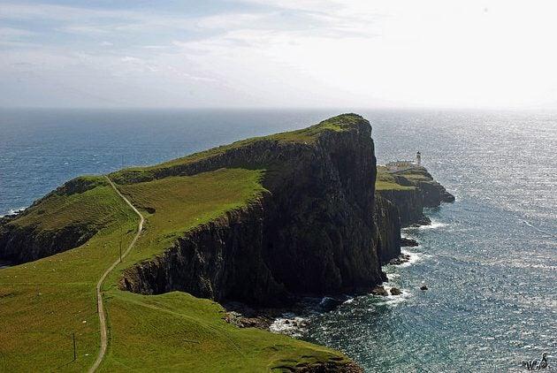Neist Point en la isla Sky en Escocia