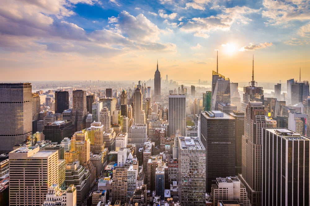 Vista de Nueva York, uno de los destinos para una luna de miel