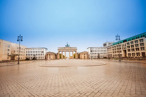PAriser Platz cerca de la Puerta de Brandenburgo