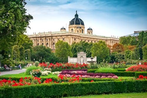 Volksgarten en Viena