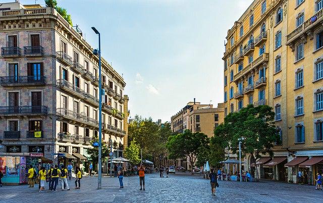 Paseo del Born en Barcelona
