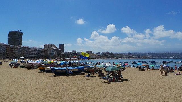 Playa de las Canteras en Las Palmas de Gran Canaria