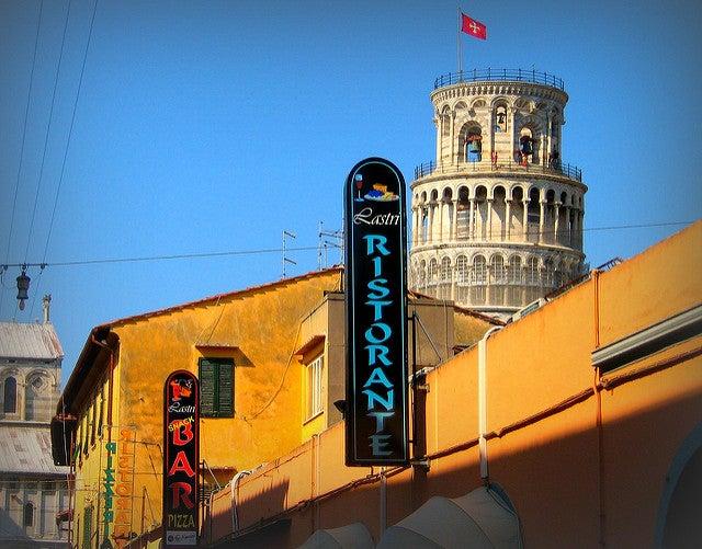 Sonde comer en Pisa, imagen de un restaurante