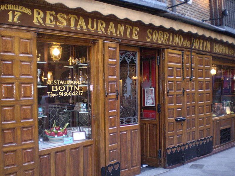 Restaurante Botín, en el Madrid desconocido