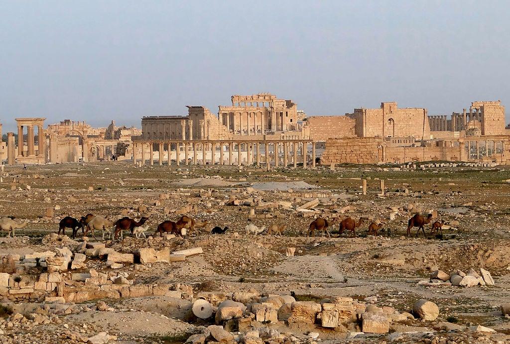 Ruinas de Palmira, uno de los lugares que ya no podemos visitar