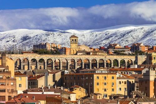 Tiempo en Segovia, imagen de invierno