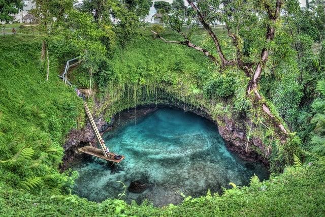Piscinas naturales increíbles, To Sua en Samoa