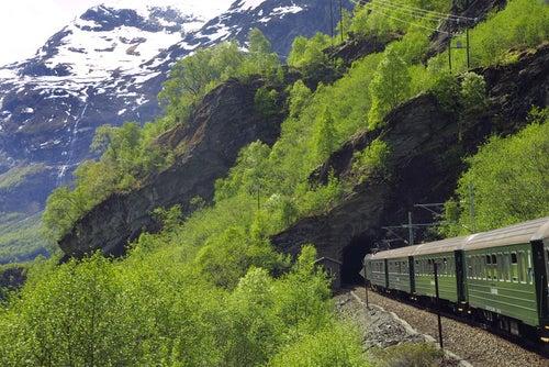 Túnel en el tren de Flam
