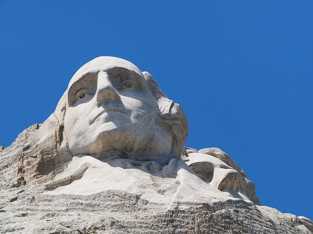 Figura de Washington en el Monte Rushmore