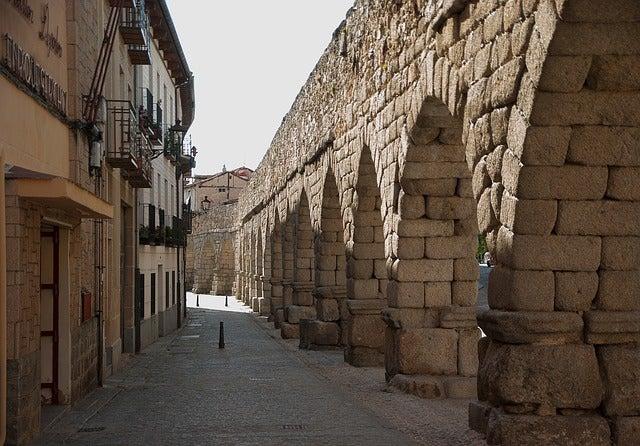 Arcos del acueducto romano de Segovia