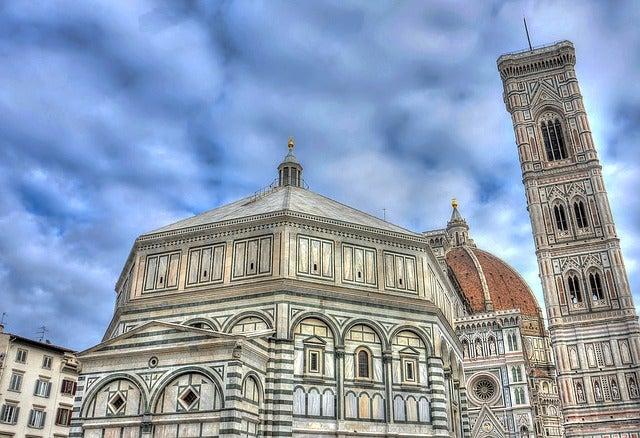 Baptisterio y torre del duomo de Florencia