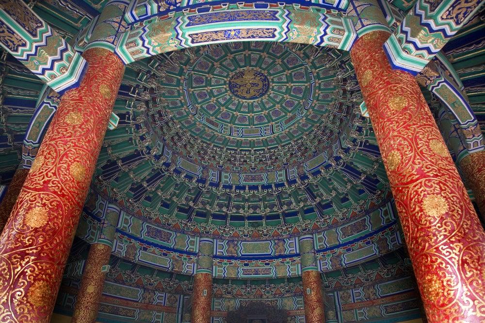 Bóveda imperial en el templo del Cielo de Pekín