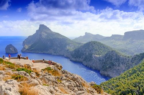 Vistas del Cabo Formentor en Mallorca