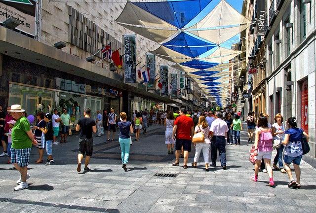 Calle Preciados en Madrid