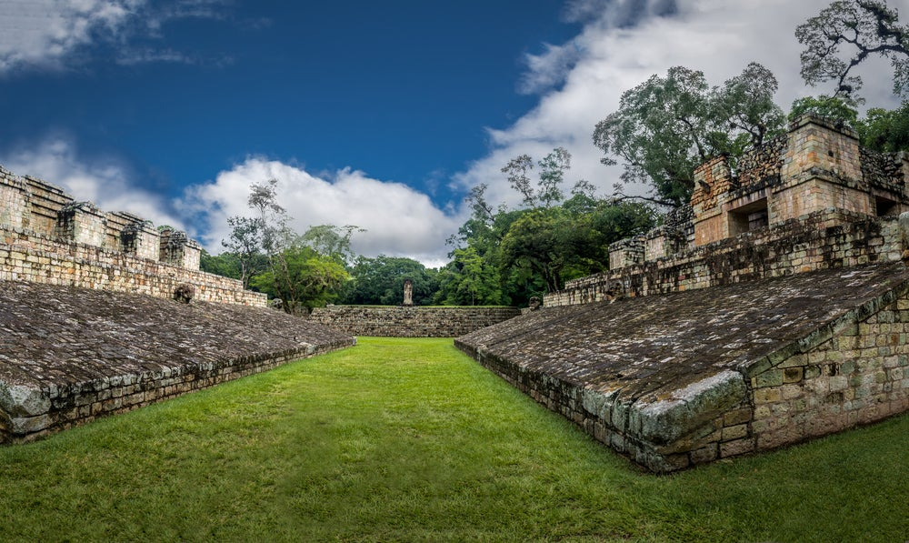 Campo de pelota en Copán