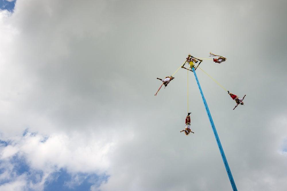Danza de los Voladores en El Tajín