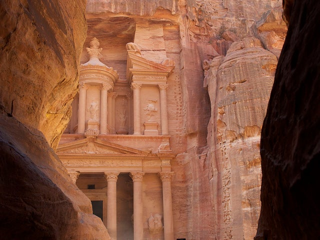 Desfiladero de entrada a Petra