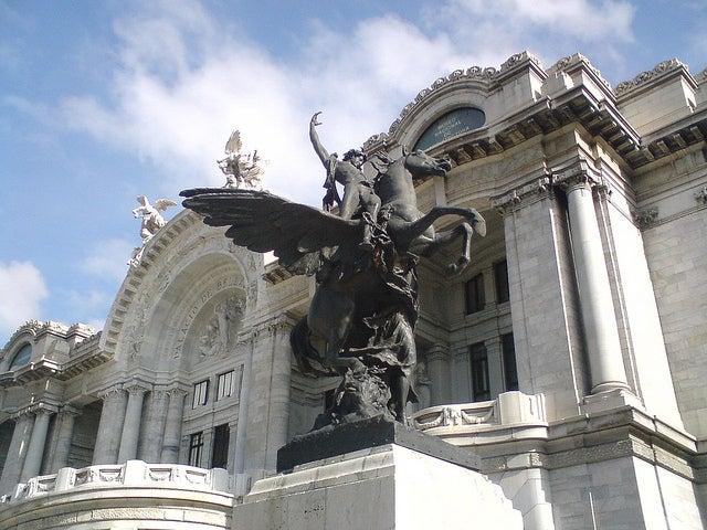 Detalle del Palacio de Bellas Artes de México