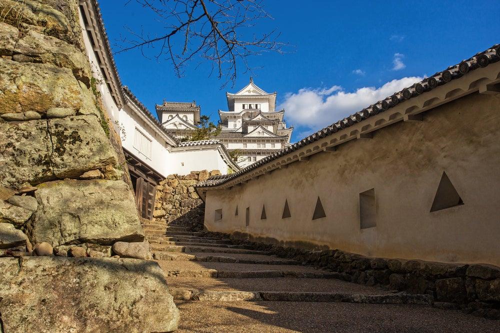 Acceso al castillo de Himeji