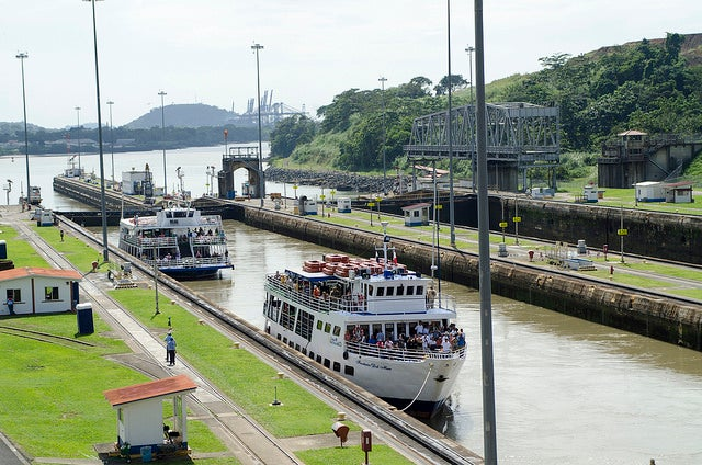 Esclusas de Miraflores en el Canal de Panamá