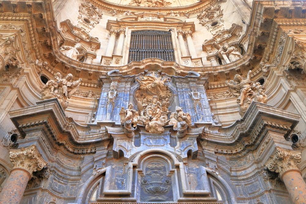 Fachada de la catedral de Murcia
