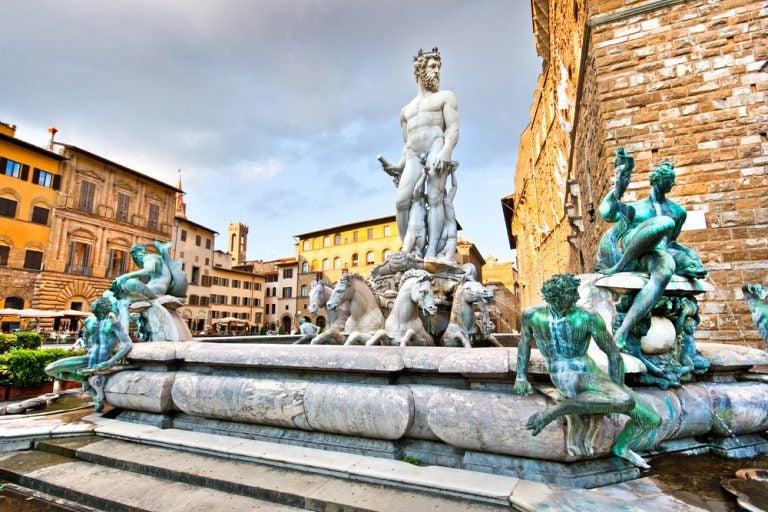 La fuente de Neptuno, uno de los iconos de Florencia