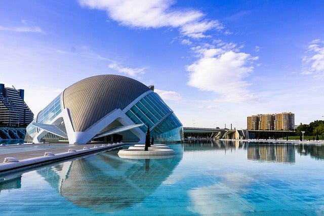 Hemisfèric en la Ciudad de las Artes y las Ciencias de Valencia