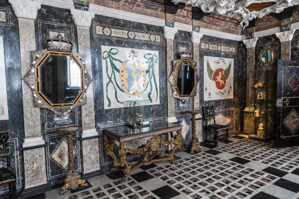 Interior del castillo de Rosenborg