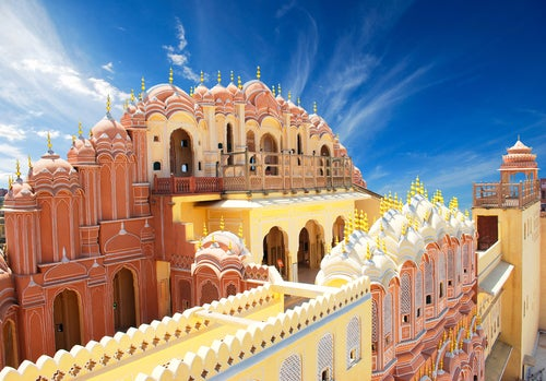 Interior del Hawa Mahal de Jaipur