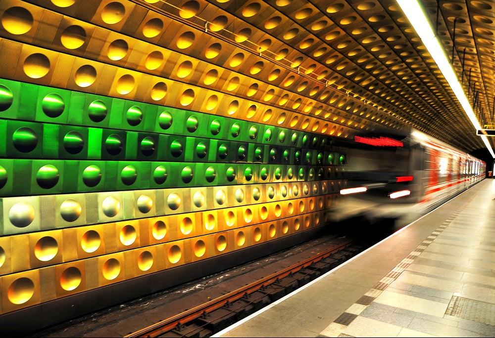 Estaciones espectaculares, metro de Praga
