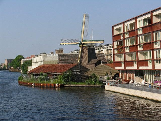 Molino de viento en Ámsterdam