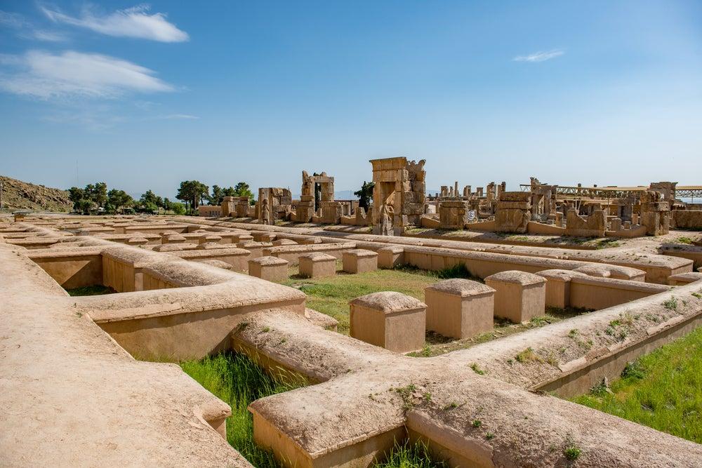 Palacio de las Cien Columnas en Persépolis