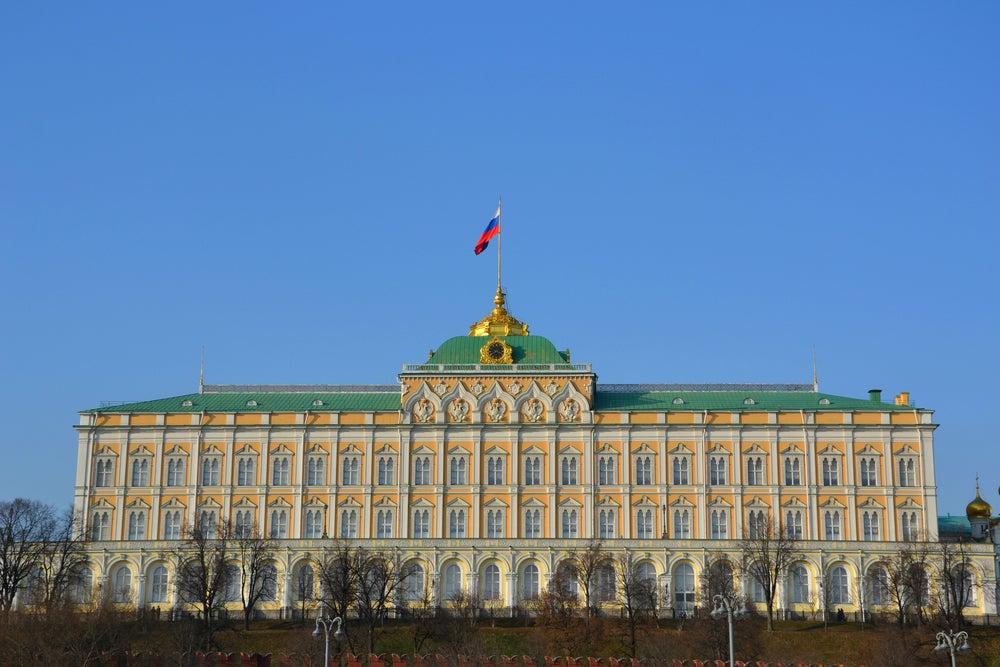 Palacio presidencial en el Kremlin de Moscú