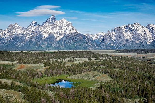 Parque Nacional Grand Teton en Estados unidos