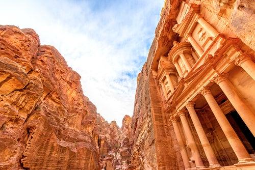 Visitar Petra, vista del Tesoro