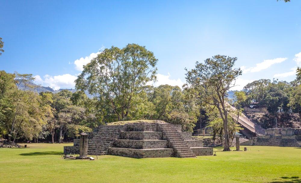 Pirámide en Copán en Honduras