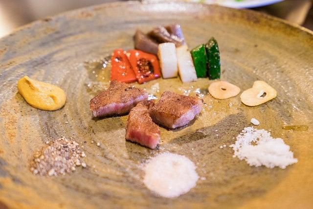 Plato de carne de Kobe
