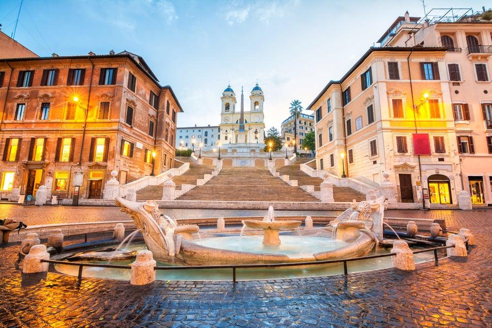 Plaza de España en una escapada a Roma