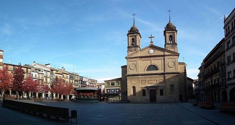 Plaza de los Fueros en Estella