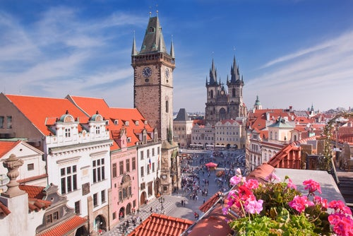 Vista de Praga en primavera