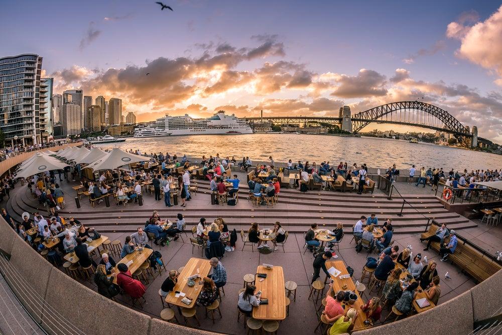 Restaurante en la ópera de Sidney